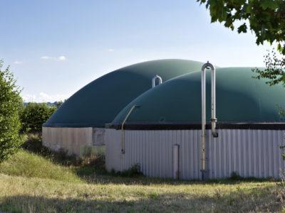 Biogas-Silo