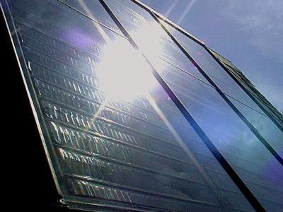 Flachkollektor Solarthermie