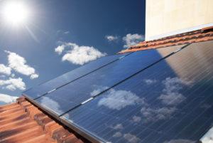 Solar Anlage auf Dach