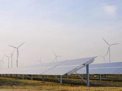 Wind und Sonnenenergie